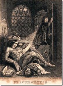 Theodore von Holst's Frontispiece to the 1831 edition of Frankenstein