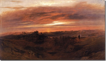 Solitude. John Martin.  Oil on Canvas, 1843.