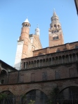 Cremona cathedral - behind the facade