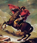 Napoleon Bonaparte crossing the Alps, by Jacques-Louis David
