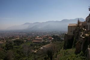 La Conca d'Oro plain, towards Palermo