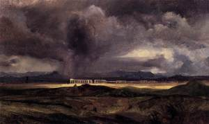 Stormy Weather over the Roman Campagna by Carl Blechen, 1798-1840, via Wikimedia Commons