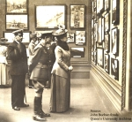 Buchan as Director of Information showing Queen Mary the war art his department had commissioned