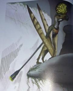 pterosaur on clift