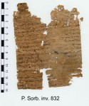 a fragment of the Acta papyri