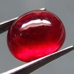 a cabochon ruby