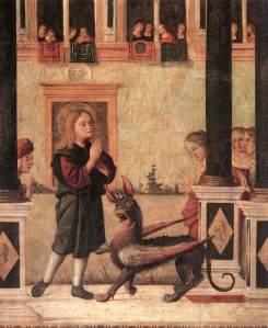 Vittore_carpaccio,_figlia_dell'imperatore_Gordiano_esorcizzata_da_san_Trifone_02