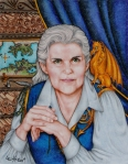 Anne McCaffrey painted by Linda Eichner