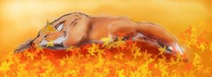 sleeping_fox_in_autumn_leaves_by_dukesketches
