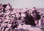 Bobbie and Alasdair on North Rona, in the ruined chapel