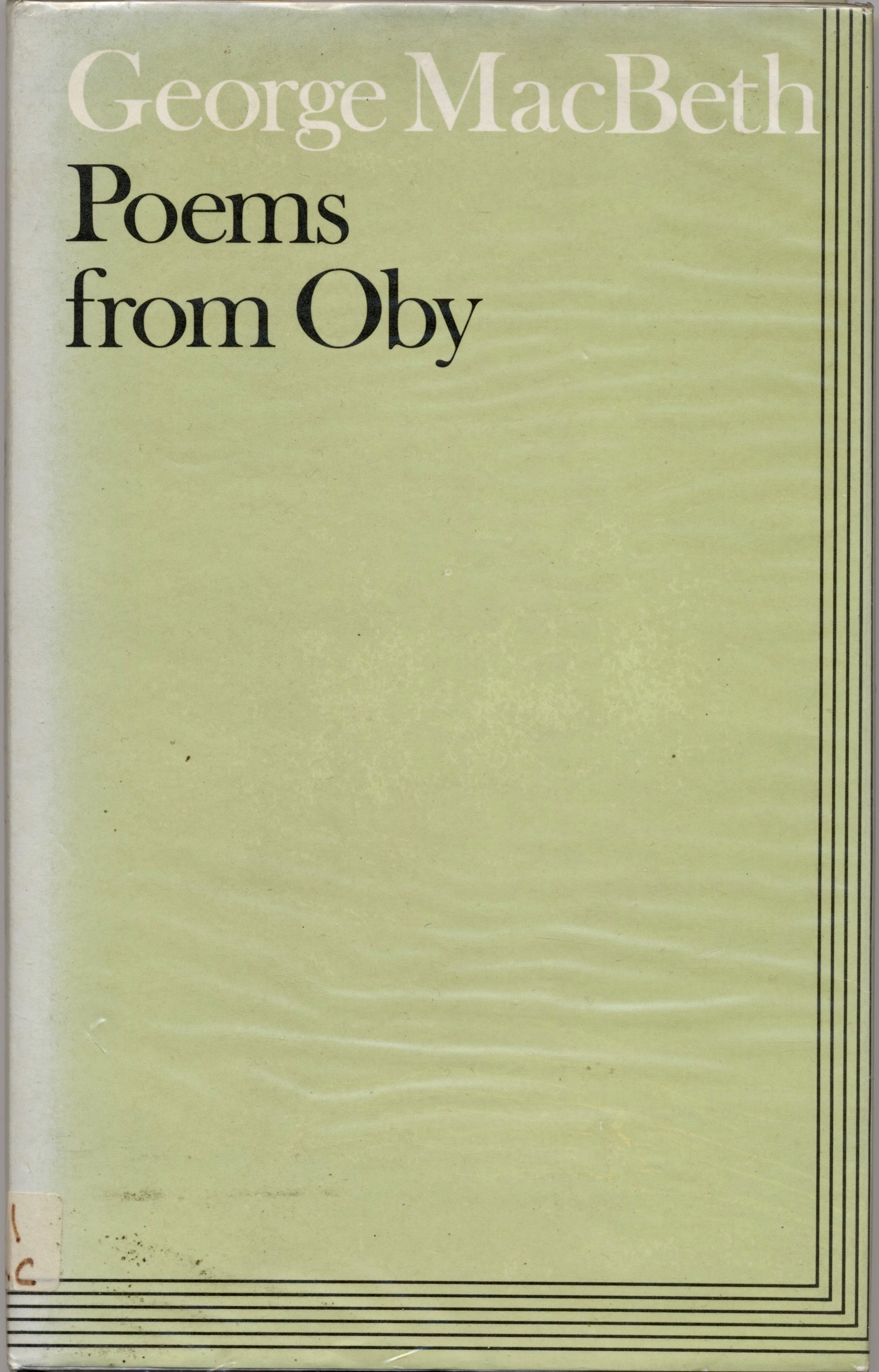 Poems from Oby, by George MacBeth | Vulpes Libris